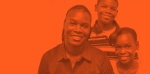 orange-woman-and-kids